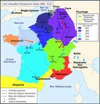Les conquêtes franques en Gaule (486-511)