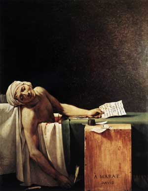 La Mort de Marat par Jacques-Louis David (1793)