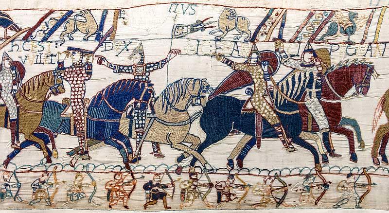 ... de bataille d'Hastings. Eustache II de Boulogne le désigne du doigt