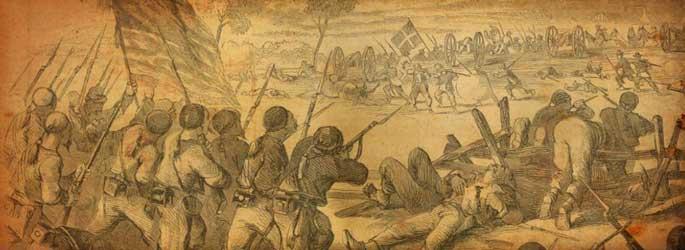 Soldats en action dans Battle Cry of Freedom