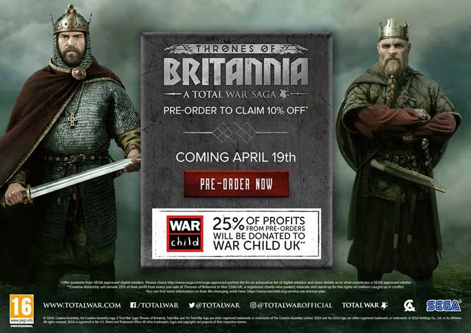 Total War Saga : Thrones of Britannia trouve une date de sortie