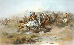 The Custer Fight par Charles Marion Russell (1903)