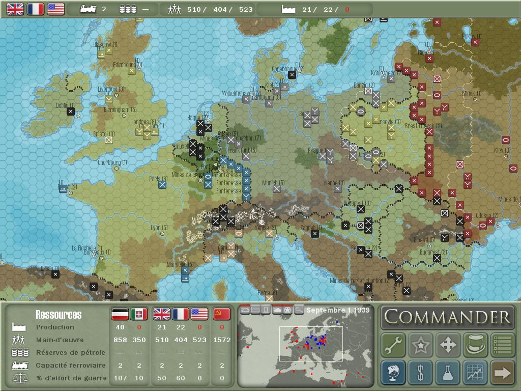 Test de Commander : Europe at War