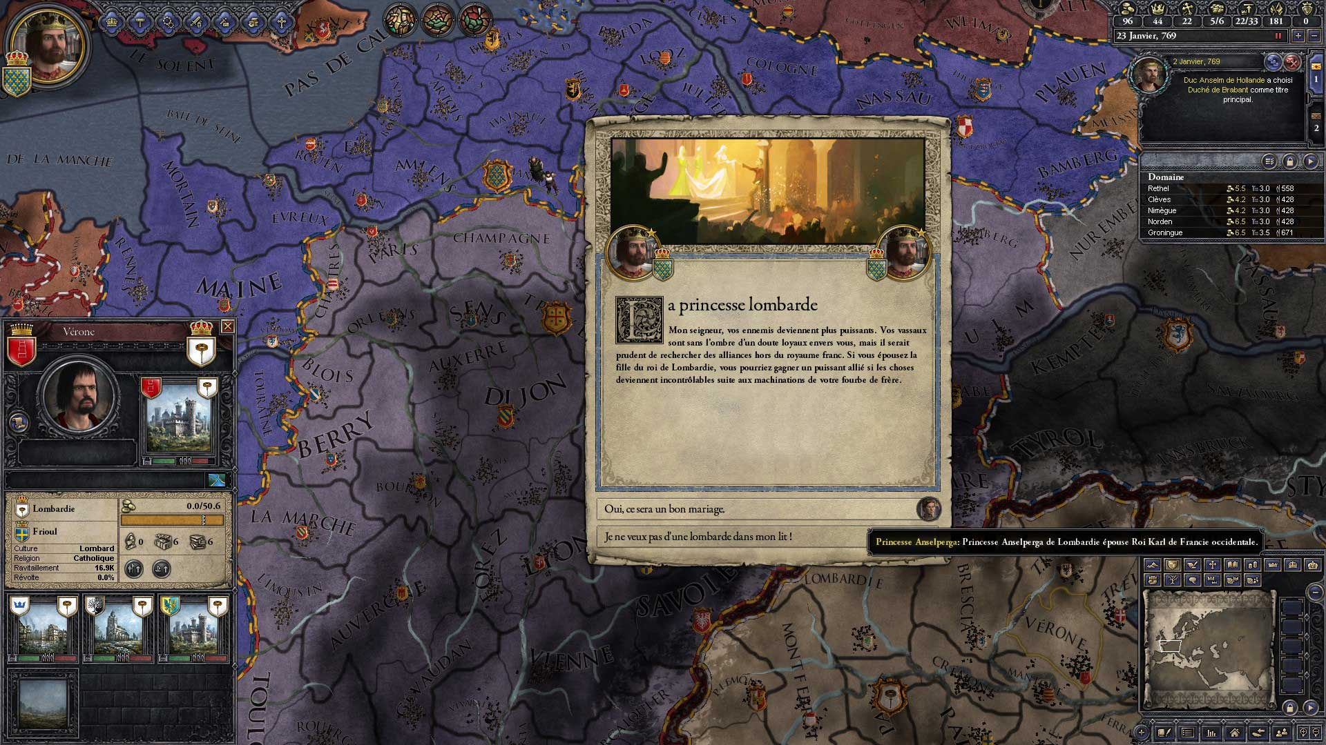 Test de Crusader Kings II : Charlemagne