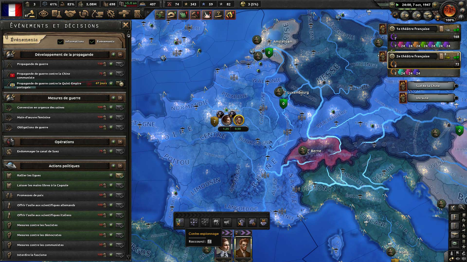 Test de Hearts of Iron IV : La Résistance